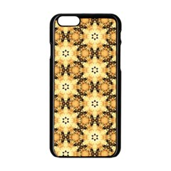 Faux Animal Print Pattern Apple Iphone 6/6s Black Enamel Case