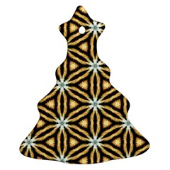 Faux Animal Print Pattern Christmas Tree Ornament (2 Sides)