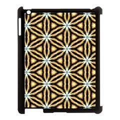 Faux Animal Print Pattern Apple iPad 3/4 Case (Black)