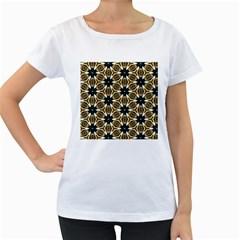 Faux Animal Print Pattern Women s Loose Fit T Shirt (white)