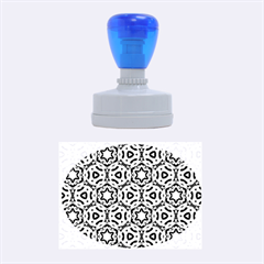 Faux Animal Print Pattern Rubber Oval Stamps