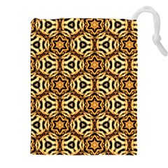 Faux Animal Print Pattern Drawstring Pouches (xxl)
