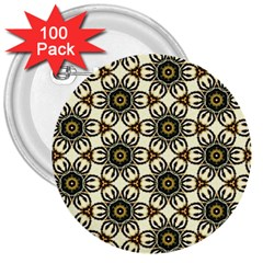 Faux Animal Print Pattern 3  Buttons (100 pack)