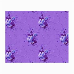Purple Roses Pattern Small Glasses Cloth