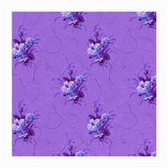 Purple Roses Pattern Medium Glasses Cloth (2-Side)