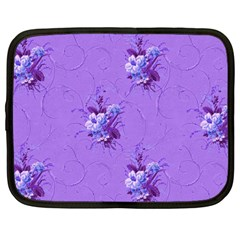 Purple Roses Pattern Netbook Case (Large)