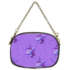 Purple Roses Pattern Chain Purses (Two Sides)