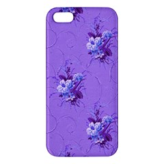 Purple Roses Pattern iPhone 5S Premium Hardshell Case