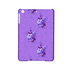 Purple Roses Pattern iPad Mini 2 Hardshell Cases