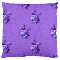 Purple Roses Pattern Standard Flano Cushion Cases (Two Sides)