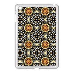 Faux Animal Print Pattern Apple iPad Mini Case (White)