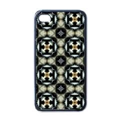 Faux Animal Print Pattern Apple iPhone 4 Case (Black)