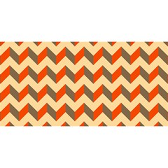 Modern Retro Chevron Patchwork Pattern  You Are Invited 3d Greeting Card (8x4)