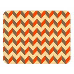 Modern Retro Chevron Patchwork Pattern  Double Sided Flano Blanket (large)
