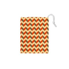 Modern Retro Chevron Patchwork Pattern  Drawstring Pouches (XS)