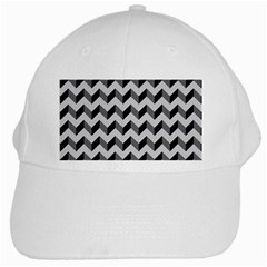 Modern Retro Chevron Patchwork Pattern  White Cap