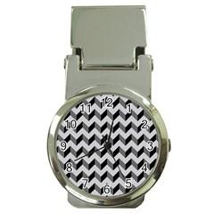 Modern Retro Chevron Patchwork Pattern  Money Clip Watches
