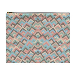 Trendy Chic Modern Chevron Pattern Cosmetic Bag (XL)