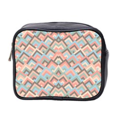 Trendy Chic Modern Chevron Pattern Mini Toiletries Bag 2-Side
