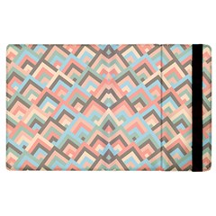 Trendy Chic Modern Chevron Pattern Apple iPad 2 Flip Case