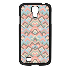 Trendy Chic Modern Chevron Pattern Samsung Galaxy S4 I9500/ I9505 Case (Black)