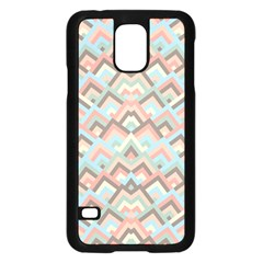 Trendy Chic Modern Chevron Pattern Samsung Galaxy S5 Case (Black)