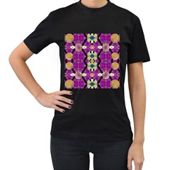 rose mandala  Women s T-Shirt (Black)