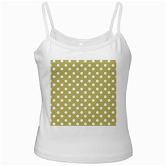 Lime Green Polka Dots Ladies Camisoles