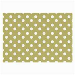Lime Green Polka Dots Large Glasses Cloth (2-Side)
