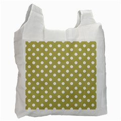 Lime Green Polka Dots Recycle Bag (Two Side)