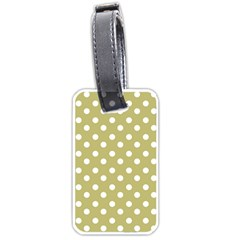 Lime Green Polka Dots Luggage Tags (Two Sides)