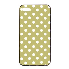 Lime Green Polka Dots Apple Iphone 4/4s Seamless Case (black)