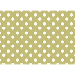 Lime Green Polka Dots Birthday Cake 3d Greeting Card (7x5)