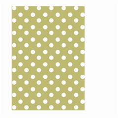 Lime Green Polka Dots Large Garden Flag (two Sides)