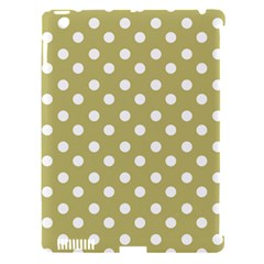 Lime Green Polka Dots Apple iPad 3/4 Hardshell Case (Compatible with Smart Cover)