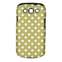 Lime Green Polka Dots Samsung Galaxy S III Classic Hardshell Case (PC+Silicone)