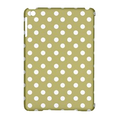 Lime Green Polka Dots Apple iPad Mini Hardshell Case (Compatible with Smart Cover)