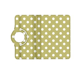 Lime Green Polka Dots Kindle Fire HD (2013) Flip 360 Case