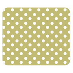 Lime Green Polka Dots Double Sided Flano Blanket (Small)