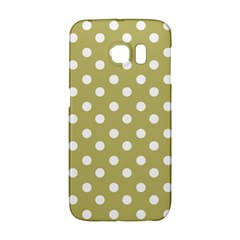 Lime Green Polka Dots Galaxy S6 Edge