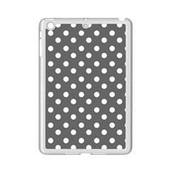 Gray Polka Dots iPad Mini 2 Enamel Coated Cases