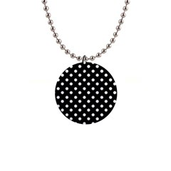 Black And White Polka Dots Button Necklaces
