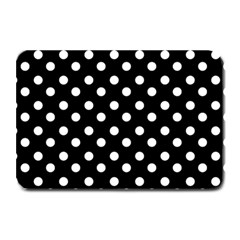 Black And White Polka Dots Plate Mats