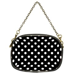 Black And White Polka Dots Chain Purses (One Side)