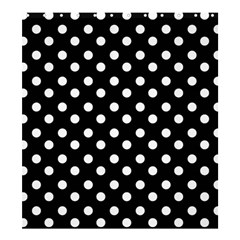 Black And White Polka Dots Shower Curtain 66  X 72  (large)