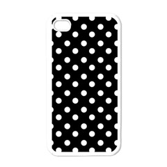 Black And White Polka Dots Apple iPhone 4 Case (White)