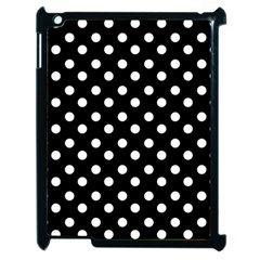 Black And White Polka Dots Apple iPad 2 Case (Black)