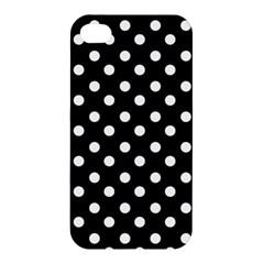 Black And White Polka Dots Apple iPhone 4/4S Premium Hardshell Case
