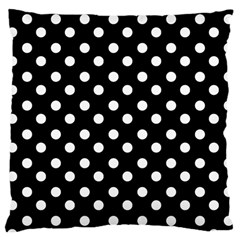 Black And White Polka Dots Large Cushion Cases (Two Sides)