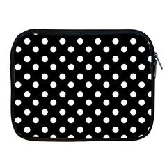 Black And White Polka Dots Apple iPad 2/3/4 Zipper Cases